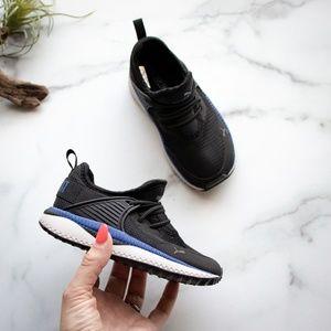 PUMA sneakers elastic laces black toddler 9C